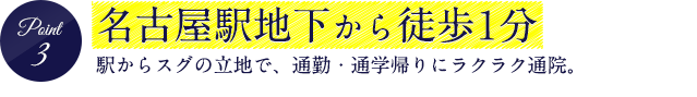 名古屋駅地下から徒歩1分